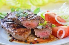 Saftiges Beefsteak Stockfoto