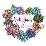 Saftiges Herz valentine Glücklicher Valentinsgruß `s Tag postkarte vektor abbildung