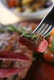 Saftiges Steak Stockbilder