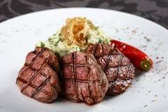 Saftiges Steak Stockbild