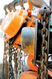 Safty chain lifters stock photography