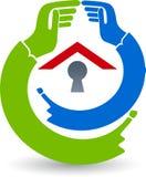 Safty domu logo ilustracji