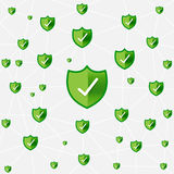 Safty shield securty network connection vector illustration eps1 Royalty Free Stock Photos