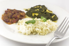 Sag Paneer - authentic Indian food Stock Photo