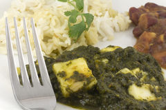 Sag Paneer - authentic Indian food Royalty Free Stock Images