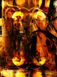 Saga 001 de Grunge stock de ilustración