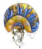 Saga royaltyfri illustrationer