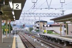 Saga - estação de trem de Arashiyama Fotos de Stock Royalty Free