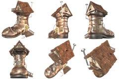 saga för sko för hus för 641 fe gammal Arkivfoton