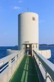 Saga, Japan 15. Januar: Unterwasseraussichtsturm in der Saga-Präfektur Lizenzfreie Stockfotos