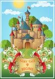 Saga om riddaren Poster vektor illustrationer