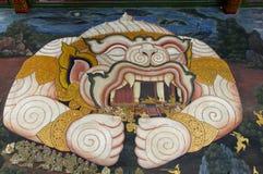 Sagaapa i traditionell thai stilmålning Arkivfoton