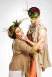 Sagabegrepp Elven man och flicka Royaltyfri Fotografi