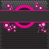 Sagacidade cor-de-rosa colorida brilhante da bandeira ilustração royalty free