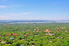 Sagaing City And Irrawaddy River, Sagaing, Myanmar. View of Sagaing City And Irrawaddy River, Sagaing, Myanmar Royalty Free Stock Photo