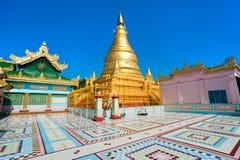 Sagaing hill, Mandalay, myanmar. Golden pagoda in sagaing hill, Mandalay, myanmar stock images
