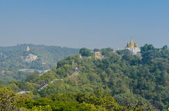 Sagaing hill, Myanmar Stock Photo