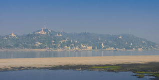 Sagaing hill, Myanmar Royalty Free Stock Photography