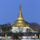 Sagaing Hill near the city of Sagaing in Myanmar (Burma) Stock Photos