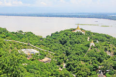 Sagaing Hill Pagodas And Irrawaddy River, Sagaing, Myanmar Stock Image