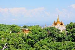 Sagaing Hill Pagodas, Sagaing, Myanmar. View of Sagaing Hill Pagodas, Sagaing, Myanmar Royalty Free Stock Photo