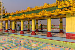 Sagaing hill temple Royalty Free Stock Image