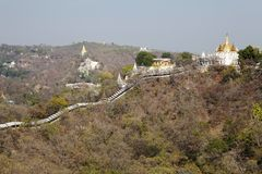 Sagaing Hills, Myanmar. Sagaing with numerous Buddhist monasteries is an inportant religious and monastic center Stock Photo