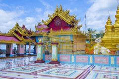 Sagaing Pagoda Myanmar. SAGAING , MYANMAR - SEP 03 : Sagaing hill Pagoda in Myanmar on September 03 2017 , Sagaing hill Pagoda is a Buddhist temple and major Royalty Free Stock Image