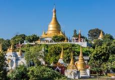 Sagaing wzgórzy linia horyzontu Myanmar Obrazy Stock