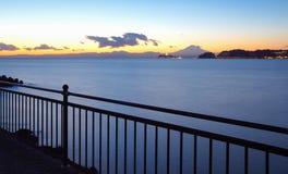 Sagami bay and Mountain Fuji stock image
