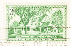 Sagamore Hill home of Theodor Roosevelt circa 1953 Stock Images