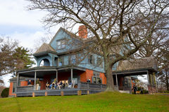 Sagamore Hill NY. OYSTER BAY, NY - NOV. 27: Sagamore Hill, the home of President Theodore Roosevelt in Oyster Bay Long Island NY seen on Nov. 27, 2011. Sagamore royalty free stock image
