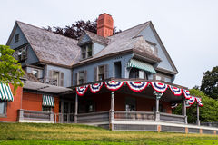 Sagamore Hill Theodore Roosevelt Home. Oyster Bay, NY - July 12, 2015: View of Sagamore Hill, home of United States president Theodore Roosevelt on Long Island Royalty Free Stock Images