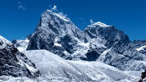 Sagarmantha nationaal park, Cholatse-piek in Nepal, Azië stock afbeelding