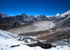 Sagarmatha National Park, Nepal. Chukhung Ri peak in Sagarmatha National Park, Nepal. Chukhung Ri is a rocky peak, similar to Kala Pattar, rising above the Stock Images