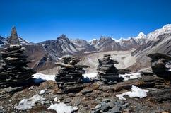 Sagarmatha National Park, Nepal. Chukhung Ri peak in Sagarmatha National Park, Nepal. Chukhung Ri is a rocky peak, similar to Kala Pattar, rising above the Stock Photos
