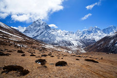 Sagarmatha National Park in the Nepal Himalaya Stock Image