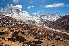 Sagarmatha national park, Nepal Himalaya. Mountain landscape in Sagarmatha national park, Nepal Himalaya Royalty Free Stock Photos