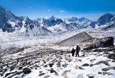 Sagarmatha National Park, Nepal Himalaya. Mountain landscape in Sagarmatha National Park in the Nepal Himalaya Royalty Free Stock Photography