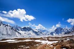 Sagarmatha National Park, Nepal Himalaya. Mountain landscape in Sagarmatha National Park in the Nepal Himalaya royalty free stock images