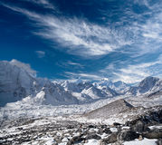 Sagarmatha National Park, Nepal Himalaya. Himalaya mountain landscape - view from Kala Pattar in Sagarmatha National Park, Everest region, Nepal, Himalayas Stock Photos