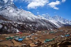 Sagarmatha National Park, Nepal. Khumbu valley - mountain landscape in Sagarmatha National Park, Nepal Royalty Free Stock Images
