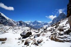 Sagarmatha National Park, Nepal. Mountain landscape in Sagarmatha National Park, Nepal Royalty Free Stock Photo