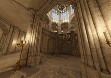 sagaslott för tolkning 3D Royaltyfria Bilder