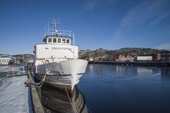 Sagasund del milivoltio (amarrado al muelle) Fotografía de archivo