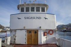 Sagasund del milivoltio (entrada y timonera) Fotos de archivo