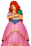 Sagatecknad filmtecken - illustration för barnen Royaltyfria Bilder