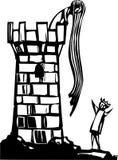 Rapunzels står hög Arkivbild