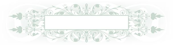 Sage banner. Sage green floral blank banner ready for text Stock Image