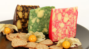Sage Derby (Cheddar Cheese) Royalty Free Stock Photo